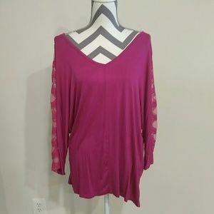 Tops - Ladies pink plus top