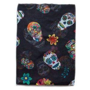 Zara Multicolor Skull Scarf