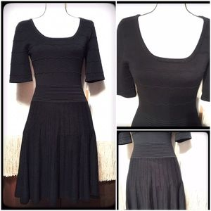 Takara Dresses & Skirts - NWT Classy Black Sweater Dress by Takara SZ M