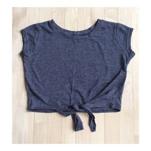 Crop gray top sz S NWOT