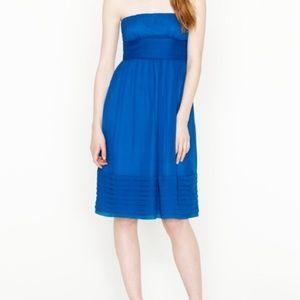 J CREW Juliet silk chiffon strapless dress