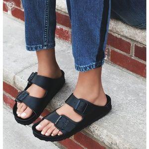 Birkenstock Shoes - All Black Suede Birkenstock Sandals Sz 10