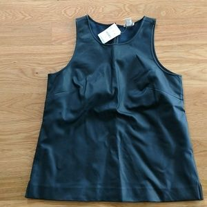 J. Crew Tops - Faux leather top