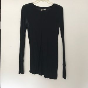Frenchi Tops - Black long sleeve fitted top