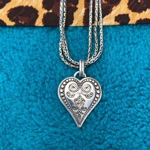 Brighton Jewelry - Brighton Ophelia Heart Necklace with pouch!