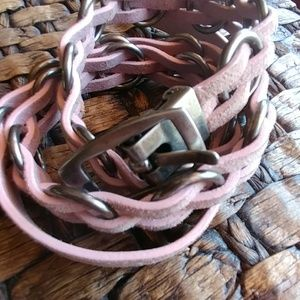 Armani exchange blush belt