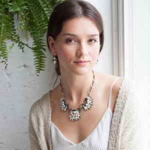 Chloe + Isabel Jewelry - Navy Blue + Bronze Morning Tide Collar Necklace