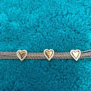 Brighton Jewelry - Brighton Two Toned Heart bracelet
