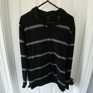 Sonoma Other - Black and Gray long-sleeved polo