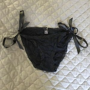 Only Hearts Other - Only Heart Lace Bow tie Pantie