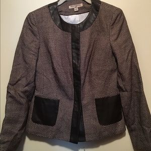 LAST CALL! Sharagano Noir Brown Collarless Blazer