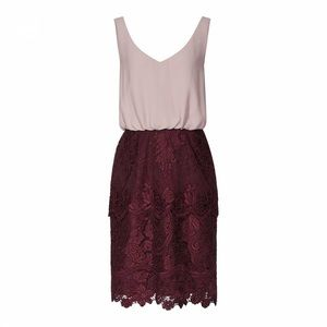 REISS rose double layer dress 