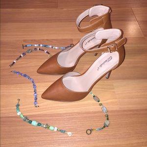Breckelles Shoes - Breckelle's Isabel Ankle Strap Stilettos