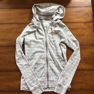 Under Armour Tops - Under Armour striped zip-up hoody. Size small.