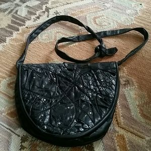 Handbags - Vintage studded vegan leather crossbody