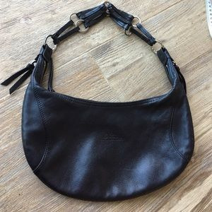 Longchamp adorable baguette hobo leather