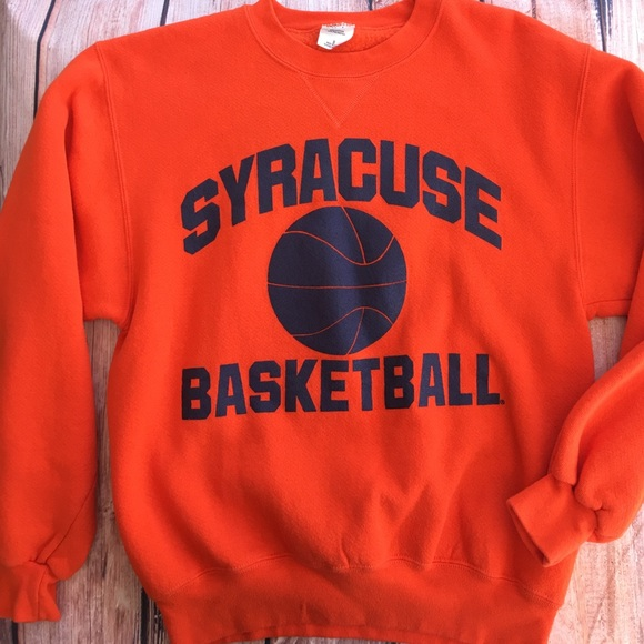 Syracuse University Shirts Vintage Syracuse Basketball Sweatshirt
