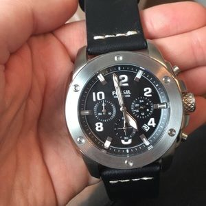 NWT Men's Fossil Brand Leather Watch