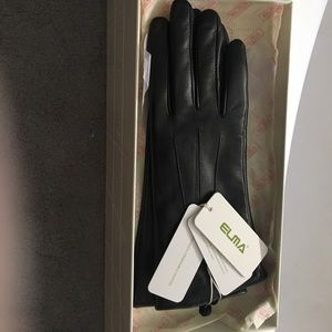 Elma leather touch screen gloves
