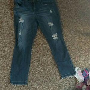 Belle Sky Denim - Belle Sky Skinny Distressed Jeans