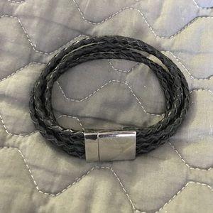 EDFORCE Other - Four Strand Braided Leather Men's Bracelet