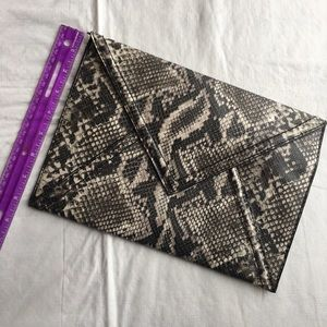 H&M snakeskin envelope clutch