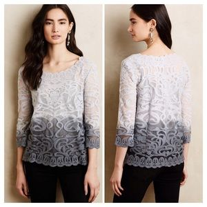 Anthropologie Meadow Rue Lace Top
