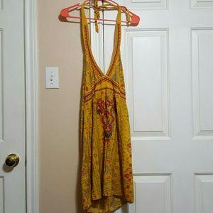 Flying Tomato Dresses & Skirts - Flying Tomato yellow Halter  Sundress Dress
