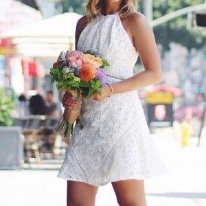 Lulu's Dresses & Skirts - JOA APPROACHING AVALON IVORY LACE HALTER DRESS XS