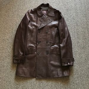 Hickey Freeman Other - Hickey Freeman leather trench coat