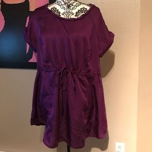 Apostrophe Tops - Purple Silky Top