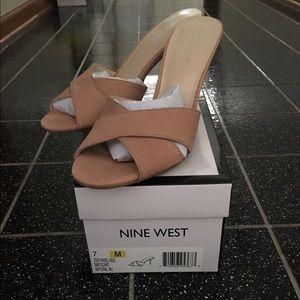 Brand New  Nine West Slip on heels