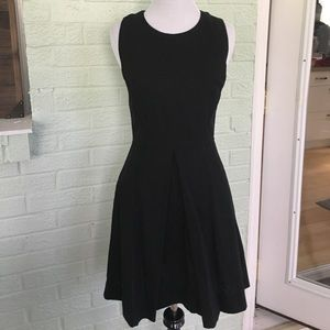 Gap black fit flare black dress us0