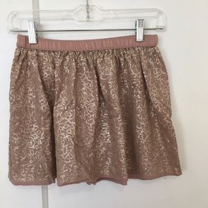 aerie Skirts - Aerie matte gold sequin skirt