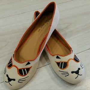 Hot Polka Dot Shoes - Cool Cat Ballet Flats