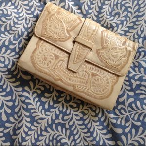 Rachel Comey Handbags - Vintage Pale Yellow, Hand-Crafted  Leather Clutch