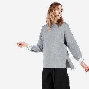 Everlane Sweaters - EVERLANE The Luxe Double-Knit Mockneck Size S Grey