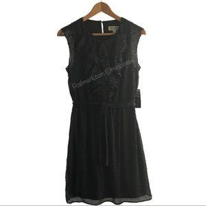Soho Apparel Dresses & Skirts - Black with White Polka Dots Ruffled Dress