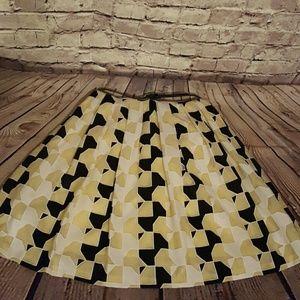 Calvin Klein black & yellow dress size 4
