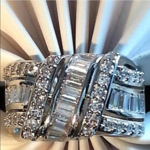 Swarovski Jewelry - 💎 18K WGP Swarovski love knot ring