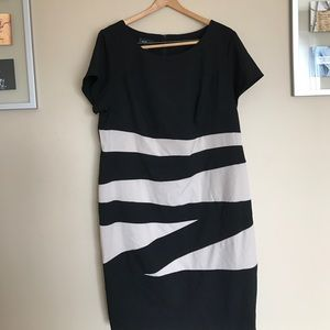 Alyx Dresses & Skirts - Alyx 18W color block cream & black dress NWOT