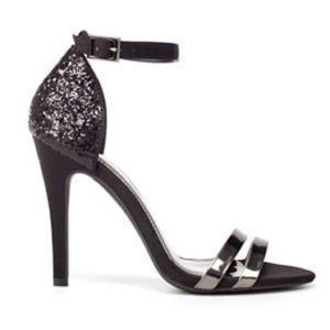 Zara Shoes - Zara Ankle Strap Glitter Heels