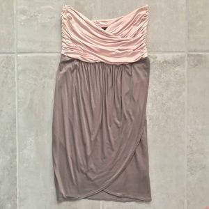 Soprano Dresses & Skirts - NWOT Soprano Pink and Gray Strapless Dress