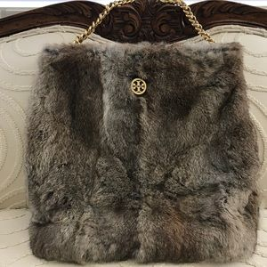 Tory Burch Rabbit Fur Hobo Bag