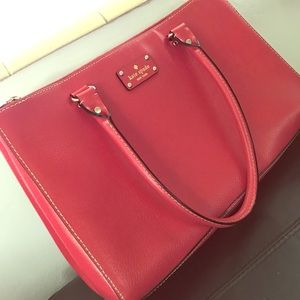 kate spade Handbags - Like New AUTHENTIC Kate Spade Red Tote