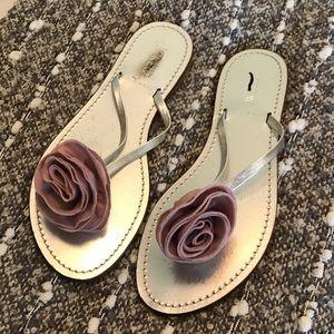 J. Crew Shoes - J. Crew Metallic Sandals