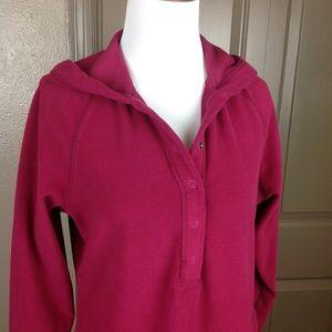 Royal Robbins Tops - Royal Robbins Rose Red Hoodie Fleece Medium