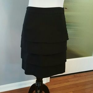 Larry Levine Dresses & Skirts - Tiered black skirt, stretch material
