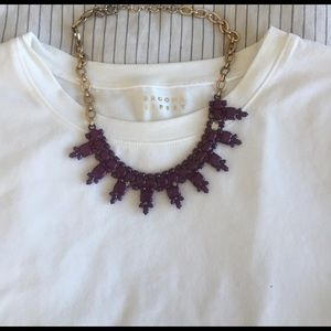 J. Crew maroon bib necklace