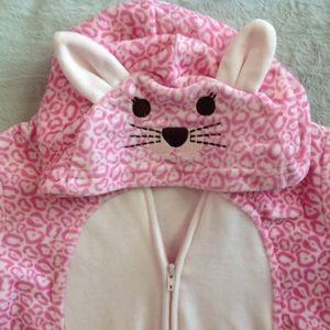 Target Other - Pink Leopard Zip-Up Onesie 💗